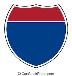 Blank interstate highway shield - Blank American interstate...