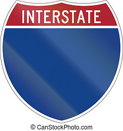 Blank Interstate highway shield used in the US.