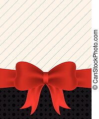 Blank invitation with red ribbon
