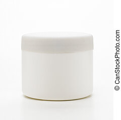 Blank jar isolated on a white background