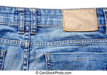 Blank jeans label