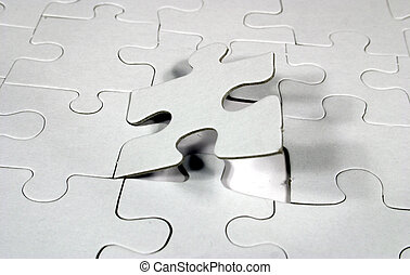 blank jigsaw puzzle ready for designer image