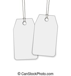 Blank label or tag isolated on white