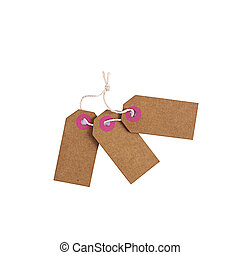 Blank label tag isolated on white background. Price tag. Sale concept.
