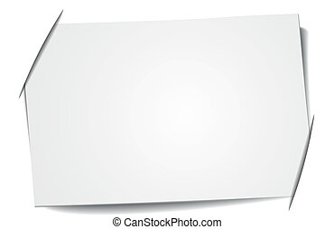 blank label - detailed illustration of a blank label stuck...