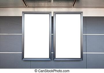 Blank lcd displays in modern interior