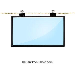 blank LCD tv screen