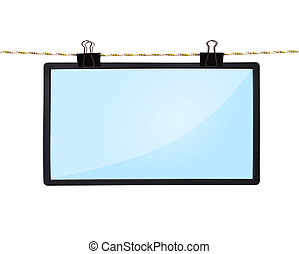 blank LCD tv screen