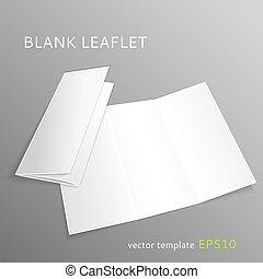 Blank leaflet - Vector blank leaflet isolated on gray...