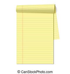 Blank legal pad vector illustration