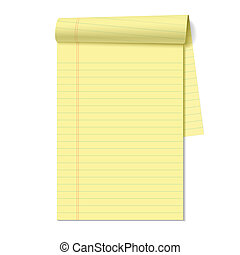 Blank legal pad vector illustration