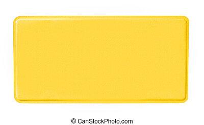 blank license plate