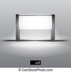 Blank light box stand - Editable  vector illustration
