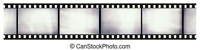 Blank light leaked highly detailed real vintage 35mm black-...