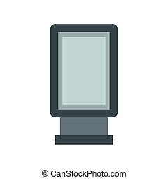 Blank lightbox icon in flat style