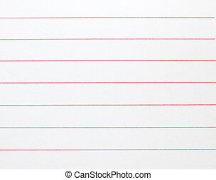 Blank lined notebook paper background or textured