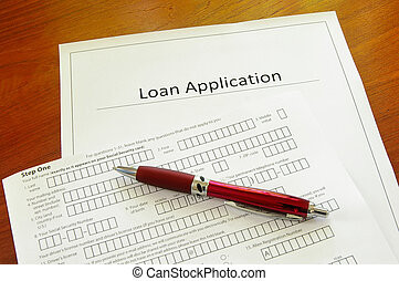 Blank loan application form