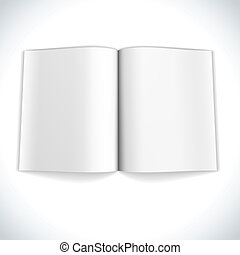 Blank magazine double page spread vector illustration.