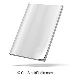 blank magazine isolated on a white background. 3d render