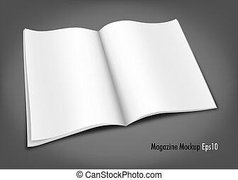 Magazine Mockup - Blank Magazine Mockup Template