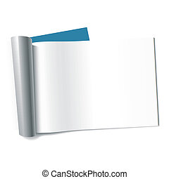 Vector illustration of a blank magazine page. Insert your graphics.