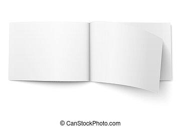 Blank magazine template. Wide format. - Blank open magazine...