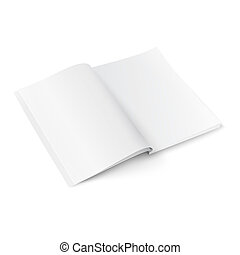 Blank magazine template with soft shadows. - Blank opened...