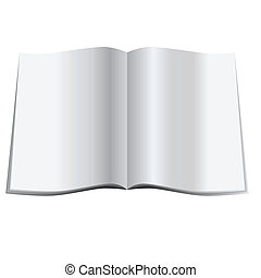 Blank magazine - Vector - Illustration of a glossy blank...