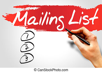 Blank Mailing list, business concept
