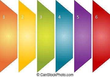 Blank generic management business strategy concept diagram illustration