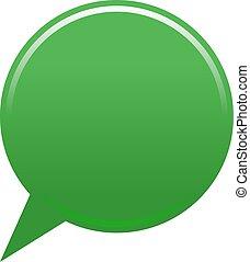 Blank map pin green app icon