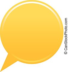 Blank map pin yellow app icon