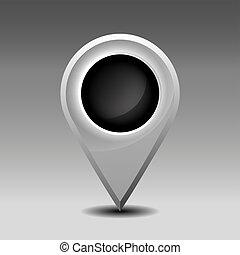 Blank marker pin