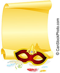 Masquerade Invitation - Blank Masquerade Invitation with...