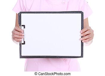 Blank medical clipboard