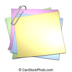 Blank Memo with Paper Clip