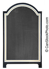 Blank menu board, isolated - Menu board outside a restaurant...