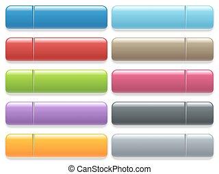 Blank menu button set