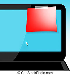 Blank Message Shows Copyspace To Do 3d Illustration