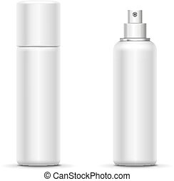 Blank metal bottle with sprayer cap deodorant