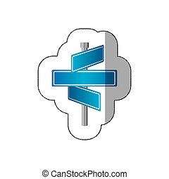 blank metal directional sign post icon, vector illustraction...