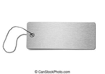 Blank metal dog tag isolated 3d illustration - Blank metal...