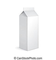 blank milk carton package