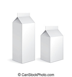blank milk carton packages