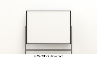 Blank mobile whiteboard in the office or classroom