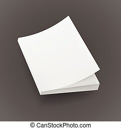 Blank Mock Up Cover Of Notebook, Magazine, Book, Booklet, Brochure. Illustration Isolated. Template Ready For Your Design.