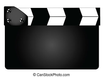 Blank Movie Clapperboard - A typical movie clapperboard with...