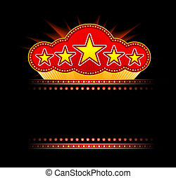Blank movie, theater or casino marquee