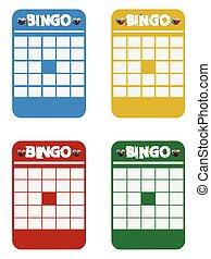 Blank multicolour bingo cards