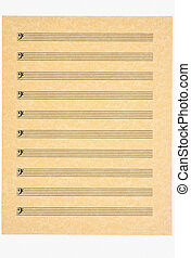 Blank Music Sheet 4, Bass Clef